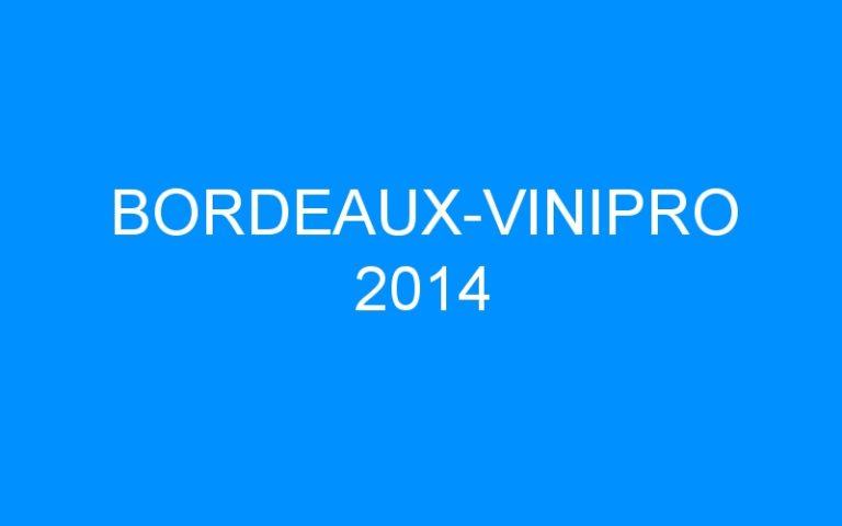 BORDEAUX-VINIPRO 2014