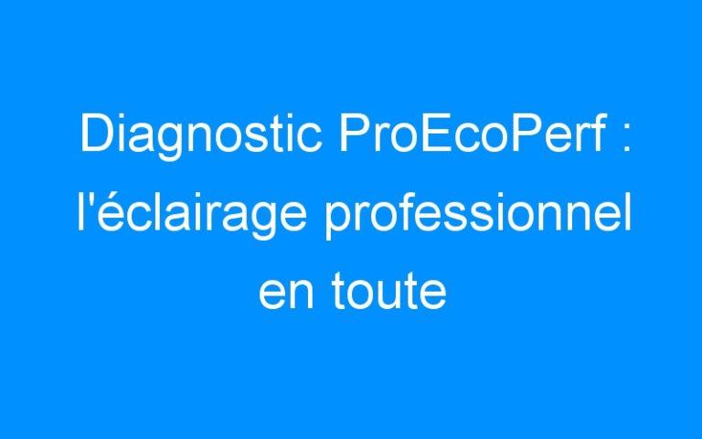 Diagnostic ProEcoPerf : l'éclairage professionnel en toute objectivité