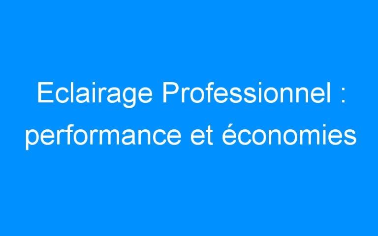 Eclairage Professionnel : performance et économies