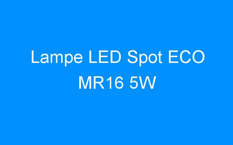 Lampe LED Spot ECO MR16 5W
