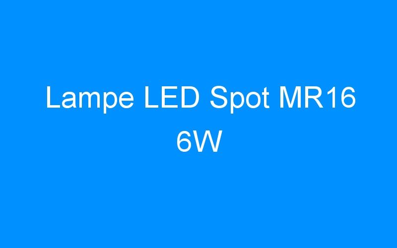 Lampe LED Spot MR16 6W