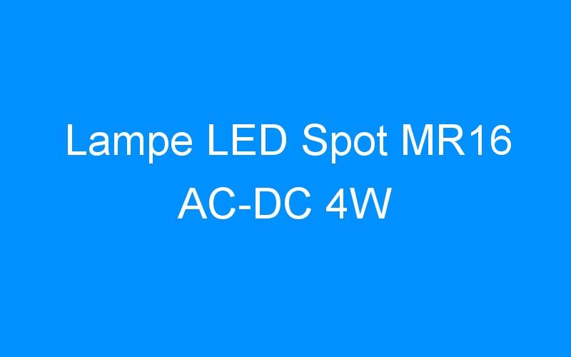 Lampe LED Spot MR16 AC-DC 4W
