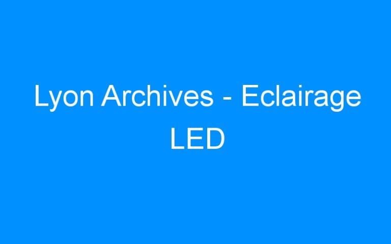 Lyon Archives – Eclairage LED