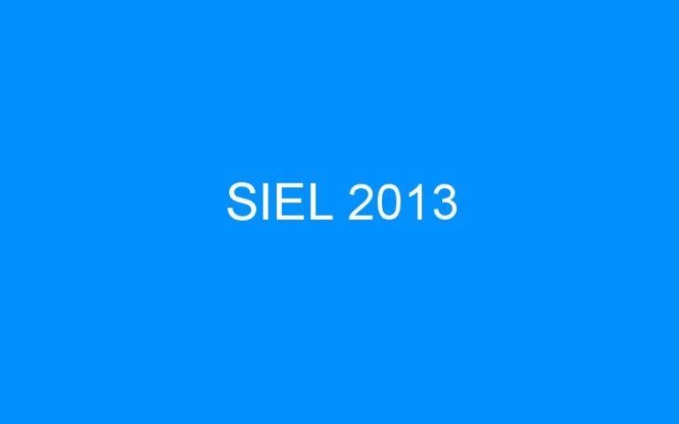 SIEL 2013