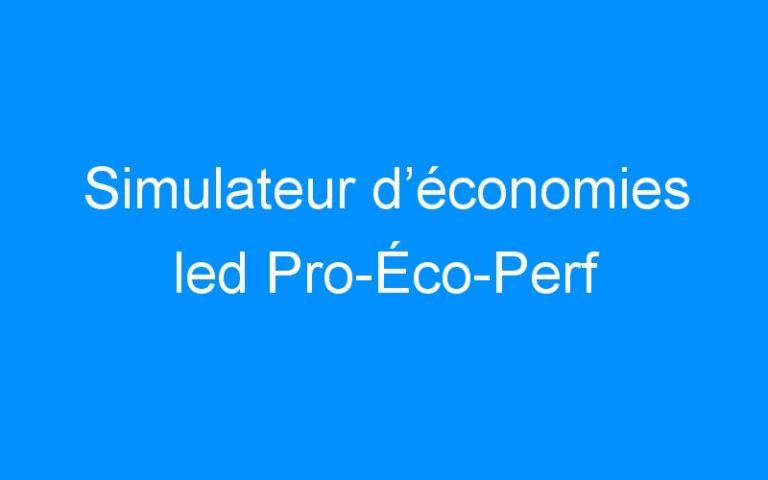 Simulateur d'économies led Pro-Éco-Perf