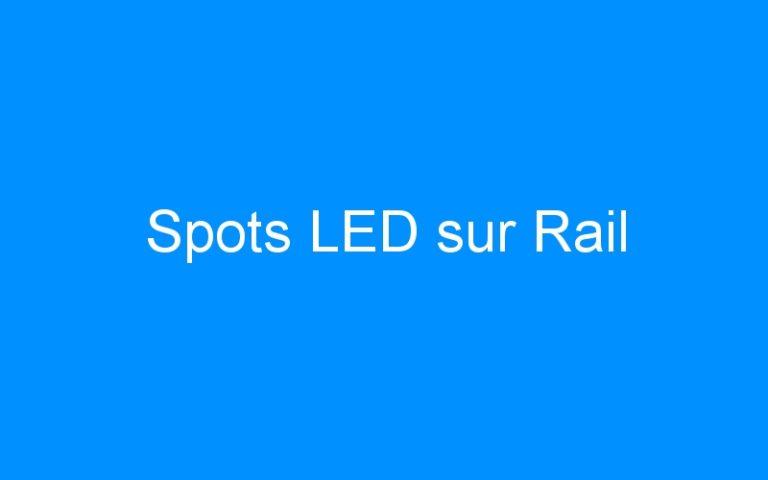 Spots LED sur Rail